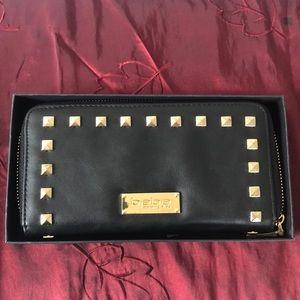 Black Bebe Wallet Clutch